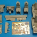 Accessory for plastic models - F-16D Block 40 cockpit set