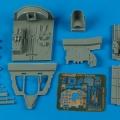 Accessory for plastic models - J2M3 Raiden cockpit set