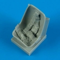 Accessory for plastic models - Bf 109E seat with safety belts