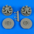Accessory for plastic models - B-25 Mitchell engines