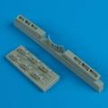 Accessory for plastic models - P-40M/N Wahawks exhaust & radiator flaps