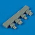 Accessory for plastic models - F6F-3/5 Hellcat exhaust