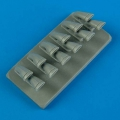 Accessory for plastic models - P-40M/N Warhawk exhaust - fishtail