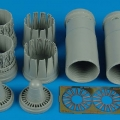 Accessory for plastic models - EF 2000A late exhaust nozzles