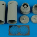 Accessory for plastic models - F-14A Tomcat exhaust nozzles - varied