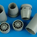 Accessory for plastic models - F/A-18E/F Super Hornet exhaust nozzle - opened
