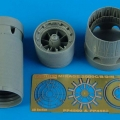 Accessory for plastic models - Mirage 2000C/B/D/N exhaust nozzles - opened