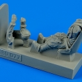 Accessory for plastic models - German WWII Luftwaffe pilot with seat for Bf 109E