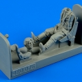 Accessory for plastic models - Russian WWII pilot with seat for P-39 Airacobra