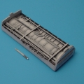 Accessory for plastic models - F-8 CRUSADER Engine duct bay (raised wing)