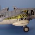 Accessory for plastic models - F4F WILDCAT wingfold set