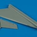 Accessory for plastic models - J35 Draken vertical fin