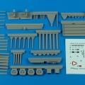 Accessory for plastic models - USAF F-2A flightline trailer (steel platform with racks)