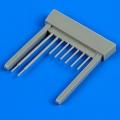 Accessory for plastic models - LaGG-3 series 7-11 gun barrels and pitot tube