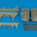 Accessory for plastic models - F6F-3/5 Hellcat wheel bay