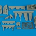 Accessory for plastic models - He 162A cockpit set and wheel bay