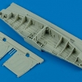 Accessory for plastic models - P-51D Mustang wheel bay