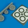Accessory for plastic models - F-105 Thunderchief wheels & paint masks