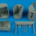 Accessory for plastic models - Heinkel He 219A-7 main wheel bays