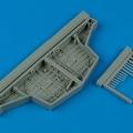 Accessory for plastic models - Hawker Sea Fury wheel bay