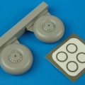 Accessory for plastic models - Lancester wheels & paint masks