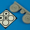 Accessory for plastic models - Junkers Ju 88A-1 wheels & paint masks