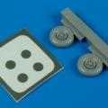 Accessory for plastic models - Morane Saulnier M.S.406 wheel & maks