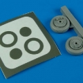 Accessory for plastic models - SAAB Tunnan J/S 29 wheels & paint masks