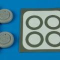 Accessory for plastic models - Su-15 Flagon wheels & paint masks