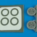 Accessory for plastic models - A-7A/B/E Corsiar II wheels & paint masks