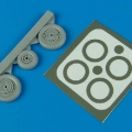 Accessory for plastic models - MiG-15 Fagot wheels & paint masks