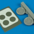Accessory for plastic models - Fw 190A-3/A-5 wheels