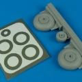 Accessory for plastic models - C-47 Dakota wheels & paint masks