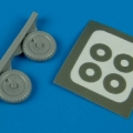 Accessory for plastic models - Fw 190A-5/A-9 wheels & paint masks