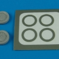 Accessory for plastic models - A-4 Skyhawk wheels (late) & paint masks