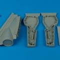 Accessory for plastic models - BAE Lightning wheel bays
