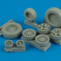 Accessory for plastic models - F-16I Sufa weighted wheels