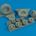 Accessory for plastic models - F-14A Tomcat weighted wheels