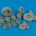 Accessory for plastic models - F-14D Super Tomcat weighted wheels