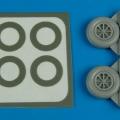Accessory for plastic models - P-40 wheels & paint mask