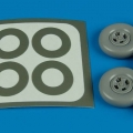 Accessory for plastic models - Spitfire Mk. IX wheels & paint masks