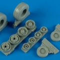 Accessory for plastic models - F-14B/D Tomcat weighted wheels