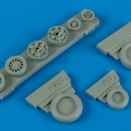 Accessory for plastic models - F-16C/CJ (block 50/52) weighted whlees