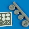 Accessory for plastic models - Me-262A wheels & paint mask