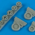 Accessory for plastic models - F-16C/CJ (block 40/50/60) weighted whlees
