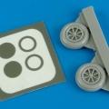Accessory for plastic models - P-40M/N wheel & paint masks
