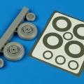 Accessory for plastic models - S2F Tracker wheels & paint masks