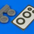 Accessory for plastic models - YAK-1 wheels & paint masks