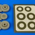 Accessory for plastic models - OV-1 Mohawk wheels & paint masks