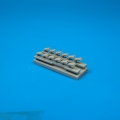 Accessory for plastic models - Bf 109G-6 exhausts